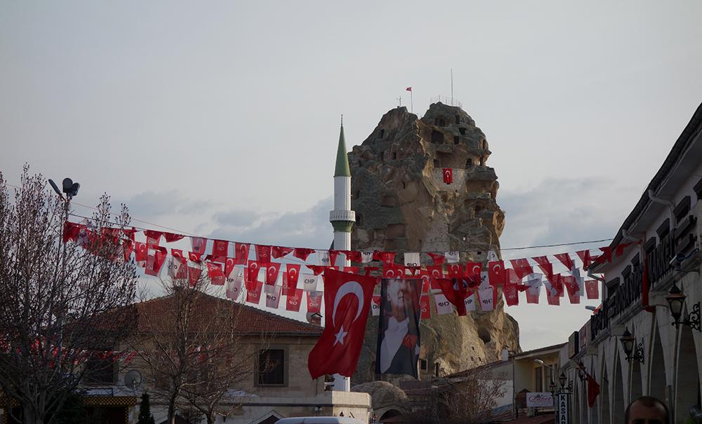 ortahisar castillo atatürk capadocia