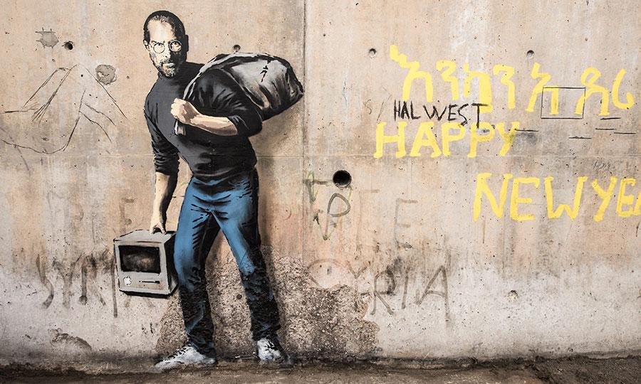 steve jobs street art