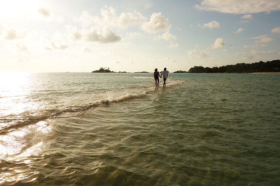 andar por el agua indonesia