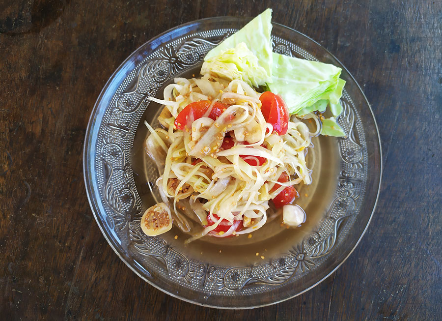 comida de laos papaya salad
