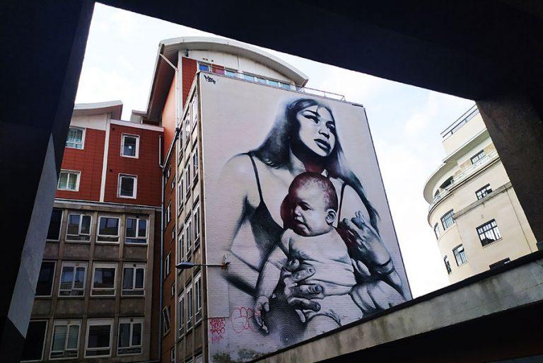 mother grafiti street art bristol
